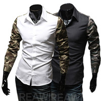 Men Cotton  2014 spring fashion popular handsome men's Camouflage fight sleeve clothing shirt