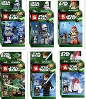 Wholesale DHL or Fedex Star Wars Yoda Sith Trooper Admiral Ackbar Building Blocks Minifigure Legoland Model DIY Bricks Toys Figures l