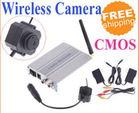 Wholesale Wireless Ghz Color Surveillance CMOS Camera Monitor S107 Hidden Pinhole Micro Cam CCTV DVR in retail package