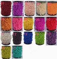 Wholesale 60m Colorful Pearl Beaded Garland Spool Beads Wedding Centerpiece Decoration