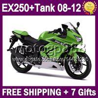 Wholesale Free Tank gifts For KAWASAKI NINJA R EX250R EX250 R Green white EX250 MG1275 EX Fairing