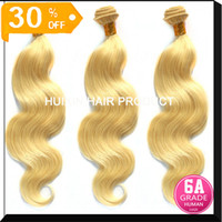 Wholesale 6A Malaysian Peruvian Indian Eurasian Virgin Extension Body wave hair Color Virgin Remy Hair Lingth blonde color hair A