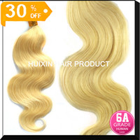 Wholesale 7A Malaysian Peruvian Indian Eurasian Virgin Extension Straight Body wave hair Color Virgin Hair blonde color hair A