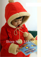 Jackets Girl Spring / Autumn Free shipping,brand 2013 New!baby girl overcoat beautiful girl's red jacket autumn winter infant outerwear wholesale and retail