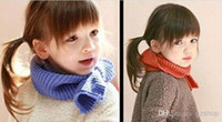 Wholesale Korea Style Fashion Candy Color Scarves for Children Winter Warm Cute Boys Girls Kids Scarf Wraps Neckerchief