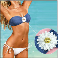 Women Bikinis Pure Colour Denim Fabric bikini Crystal diamond swimwear Sexy women bikini designer Beachwear luxury bikini design Victori secret women swimsuit
