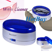Wholesale Battery Powered Multi function Ultravibra Glasses Jewelry Water Wave Cleaner Washer Silver Blue