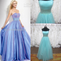 Wholesale Strapless Purple A Line elastic satin Homecoming Dresses Quinceanera Prom Evening Dress Gown