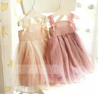 Wholesale Light Lace Veil - Wholesale -Summer girl dress suspender lace tiered veil ball gown dress girl vest tutu dress 5p l