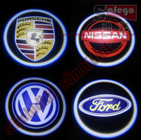Wholesale Car logo door light ghost shadow light LED car welcome light laser lamp with car logo vw bmw benz opel lada mazda ford