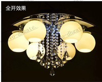 Wholesale LLFA285 Lotus crystal chandelier crystal lighting modern minimalist living room led lamp bedroom lamp restaurant with creative ceiling