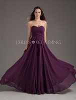 Wholesale Modest A Line Chiffon Bridesmaid Dresses Maid of Honor Gown Sweetheart Pleat Floor Length Bandage Lace Up Back Sleeveless Custom Made Color