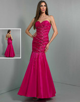Reference Images Sweetheart Elastic Satin 2014 Sexy Mermaid Prom Dresses Long Wow Sweep Train Backless Sweetheart Beaded Pleat Sheer Evening Gowns Formal Pageant Dresses Custom Cheap