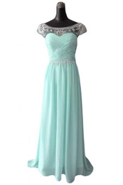 Wholesale 2014 Summer A Line Pleats Applique Pure Style Light Sky Blue Evening Dresses Sweep Train Gowns Prom Gown Zipper Backless Evening Gowns
