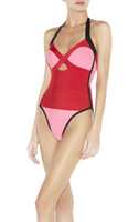 Cheap Women womens bikini swimwear Best Monokini Geometric one piece swimsuit