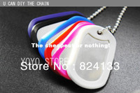 Wholesale 200pcs hot sale military dog tags with silencer dog tags for men aluminum dog id tags dhl fedex