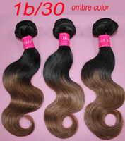 Wholesale 5A ombre hair extension remy human hair weft brazilian hair weave b mix color body wave