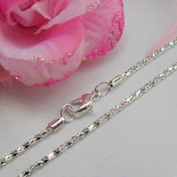 Wholesale 16 quot Silver Jewelry Flat Curb Necklace Sets Silver Chains Sterling Silver Necklace Sets For Pendant SN10054 mm