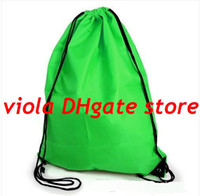 Wholesale Portable String Bag Drawstring Backpack Gym Swim School Dance Shoe Boot PE Drawstring Bag Backpack