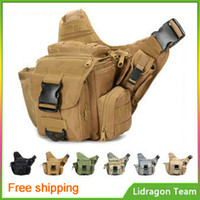 Wholesale Tactical messenger shoulder bag Outdoor multifunction mountaineering bags Military bag camera bag travel backpack
