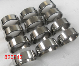 30pcs lot Silver Simple Plain 8mm Width Fashion Stainless Steel Rings For Men Wholesale Jewelry Lots