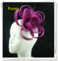 Wholesale multiple color fascinator hair accessories sinamay hats Party hats pieces DH12