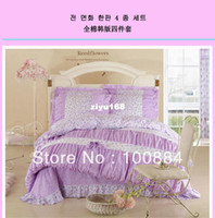 Adult Twill 100% Cotton please tell me the styleHot sales king queen size princess bedspread,100% cotton princess girls bedding sets,purple color princess korean du