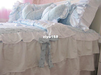 4 pcs bed skirted 1.8m ( 6 feet ) bed, 1.5m ( 5 feet ) bed please tell me the style2012 princess lover hot sales brand bedding set,100% cotton 4ps bedding sets, EMS Free Shipping