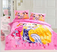 Wholesale please tell me the styleDiscount TC Cotton kids princess fitted sheet fitted twin full size duvet cover princess bedspread fitted sheet