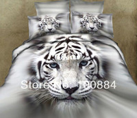 bed linen - please tell me the styleNew pattern d oil painting white tiger bedding TC pc bed linen without filler D oil white tiger comforter sets