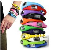 Numérique gelée de caoutchouc de silicone anion négatif Ion Sports Bracelet montre-bracelet