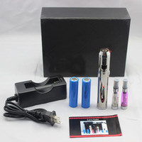 Electronic Cigarette Set Series silver Wholesale - 2200mah Lava Tube Variable Voltage E cig 3V - 6V adjustable voltage CE4 clearomizer Electronic Cigarette Stainless with Gift Box