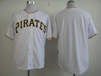 Wholesale White MLB Pittsburgh Pirates Jerseys Blank Baseball Jerseys Short Sleeve Men s Base Uniforms Cheap Sportswear High Quality Athletic Clothes