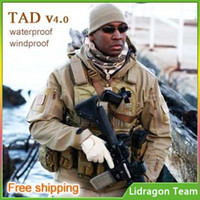 Wholesale TAD v4 shark skin soft shell jacket Military Tactical Jacket Outdoor TAD waterproof windproof fleece Army Clothing