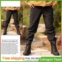 Wholesale Outdoor Army fans TAD shark skin soft shell pants Trousers Fleece Trousers warm pants overalls waterproof windproof breathable