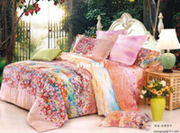 Adult Twill 100% Cotton please tell me the style!NEW Pattern 4pcs pink and flowers princess bedding,500TC 100% cotton floral quilt covers size Full Queen, EMS Free