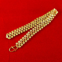 Wholesale African Blacks K Yellow Gold Plated Bracelet Jewelry C033 Hot Sale Fashion Women s Men s Three Square Chains Bracelets