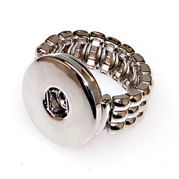 Adjustable snap interchangeable ring base Fits noosa rings. High quality rhodium plating