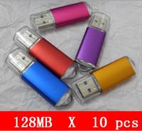 al por mayor 16gb usb al por mayor unidad flash-¡10pcs X 128mb venden al por mayor la impulsión de destello de las ventas del USB 2.0 de la impulsión del USB alta calidad! Nuevo Capacital Genuino