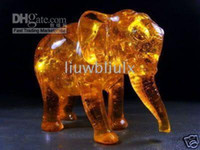 amber amber elephant - Collectible Rare amber elephant statue