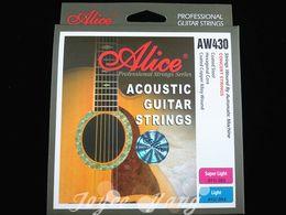 Alice AW430 Super Light Acoustic Guitar Strings plaqué acier 1ère et 6ème chaînes en gros Livraison gratuite à partir de guitares à cordes de super fabricateur