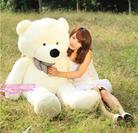 Wholesale 2014 Hot Sale New FEET TEDDY BEAR STUFFED LIGHT BROWN GIANT JUMBO quot size cm birthday gift