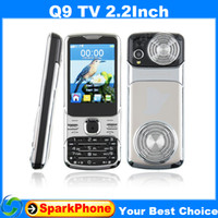2.4 analog tv - Russian Q9 TV Quad Band Dual Cards Cameras Analog TV inch super big speaker phone Can choose RussianKeyboard