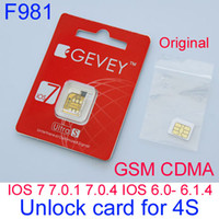 For Apple iPhone activate sim card iphone - Newest F981 Gevey S unlock sim card gevey IOS IOS IOS IOS IOS With Activates sim card unlocking for iphone4s GSM