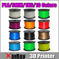 Yes Xinray Other New 10 Color PLA Plastic 3D Printer Supplies Filament Makerbot RepRap 1kg 3MM free shipping
