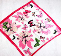 Wholesale Fashion Imitation Silk Scarves Square cm Butterfly New Arrival B9