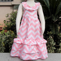 chevron maxi dress - new girl summer chevron bohemian dress toddler baby ruffle cotton beach wear dress children backless halter dress kid pink white maxi dres