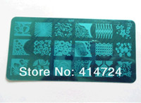 Nail Art Stamping Plate 16 for choice  Abstract Pattern Nail Art Stamping Image Template Plate Kits for Women TO Series