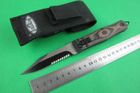 Wholesale New Microtech knife large collection Horizontal open switchblade half tooth knives Blade material Cr17Mov