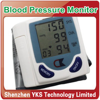 Wholesale New Portable Home Digital Wrist Blood Pressure Monitor Heart Beat Meter indicator Dropshipping